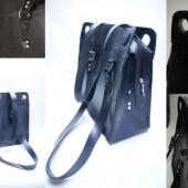 Collage zwarte recht band tas