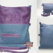 Schoudertas paars blauw