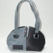 'hand' tas zwart grijs